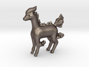 Ponyta in Polished Bronzed Silver Steel