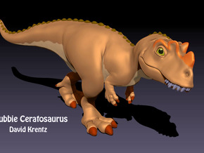 Ceratosaurus Chubbie Krentz in White Strong & Flexible