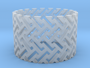 Woven Ring (Size 4-11) in Smooth Fine Detail Plastic: 4 / 46.5
