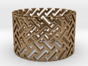 Woven Ring (Size 4-11) in Natural Brass: 4 / 46.5