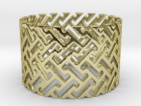 Woven Ring (Size 4-11) in 18k Gold Plated Brass: 4 / 46.5