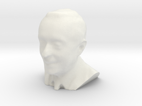 Marcelo Rebelo de Sousa 3D Model in White Natural Versatile Plastic