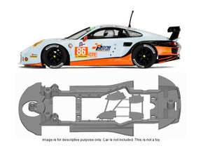 S18-ST4 Chassis for Scalextric Porsche 991 SSD/STD in Black Strong & Flexible