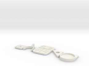 SaberwallMount in White Natural Versatile Plastic