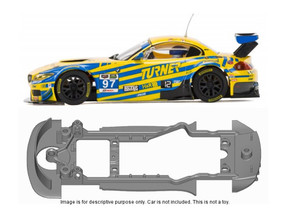 S11-ST4 Chassis for Scalextric BMW Z4 GT3 SSD/STD in Black Strong & Flexible