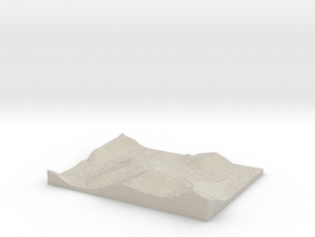Model of Trace Creek in Natural Sandstone