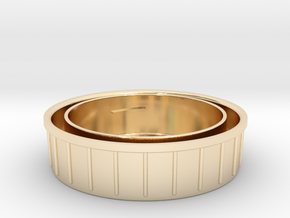 Topcon/Exakta Rear Lens Cap in 14k Gold Plated Brass
