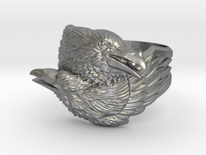Two Ravens Ring in Natural Silver: 11.5 / 65.25