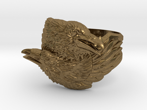 Two Ravens Ring in Natural Bronze: 11.5 / 65.25