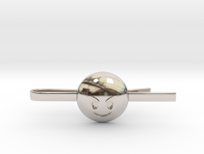 Evil Tie Clip in Rhodium Plated Brass