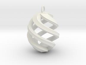 Conspire Pendant in White Natural Versatile Plastic