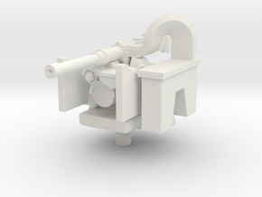 1/72 remotely oparated M2 .50 cal Machine Gun in White Natural Versatile Plastic