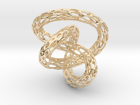 Infinite Knot - Voronoi Pendant in 14k Gold Plated Brass