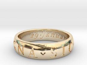 Size 11 Sir Francis Drake, Sic Parvis Magna Ring  in 14K Yellow Gold