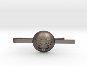 Nerd Tie Clip in Polished Bronzed Silver Steel