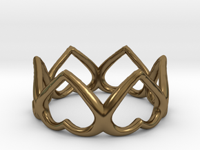 The Heart ring / size HK 10 / 5 US (19.4 mm) in Polished Bronze