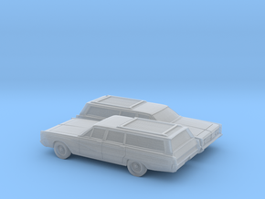 1/160 2X 1966 Mercury Colony Park Station Wagon in Smooth Fine Detail Plastic