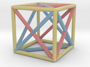 Hexahedron in Full Color Sandstone