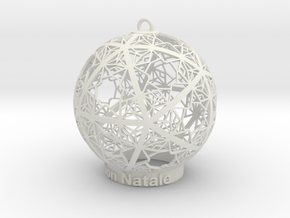 Christmas Ornament in White Natural Versatile Plastic