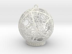Christmas Ornament in White Natural Versatile Plastic