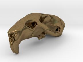 RAT SKULL PENDANT in Natural Bronze