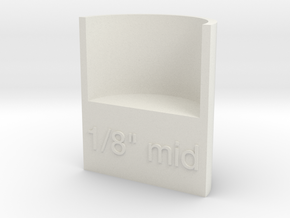 "Lasersaur focus: 1/8"" media, middle point in White Natural Versatile Plastic"