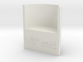 "Lasersaur focus: 1/8"" media, middle point in White Natural Versatile Plastic"