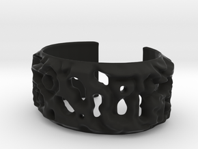 Osmosis Cuff - Science Jewelry in Black Natural Versatile Plastic: Small