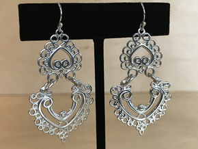 BlakOpal Linked Earring in Polished Silver (Interlocking Parts)