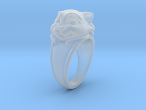 Cat Pet Ring - 17.35mm - US Size 7 in Smooth Fine Detail Plastic