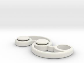 Micro Pocket Fidget Spinner - EDC for Fidgeters in White Strong & Flexible