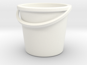 Bucket in White Strong & Flexible Polished