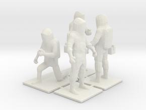 Hazmat Team 1, Multiple Scales in White Natural Versatile Plastic: 1:87