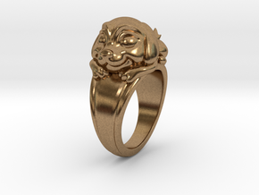 Dog Pet Ring - 17.35mm - US Size 7 in Natural Brass