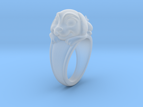 Dog Pet Ring - 18.19mm - US Size 8 in Smooth Fine Detail Plastic