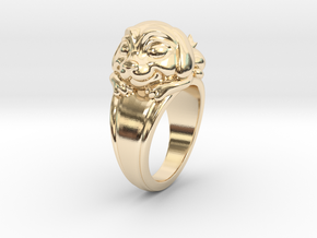 Dog Pet Ring - 18.19mm - US Size 8 in 14K Yellow Gold