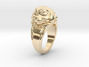 Dog Pet Ring - 18.89mm - US Size 9 in 14k Gold Plated Brass
