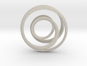 Mobius strip - Pendant in Natural Sandstone