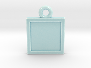 Celadon Selfie Ornament  in Gloss Celadon Green Porcelain