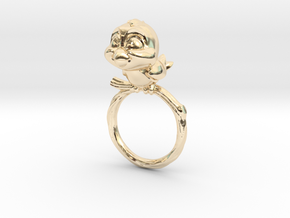 Bird Pet Ring - 18.19mm - US Size 8 in 14K Yellow Gold