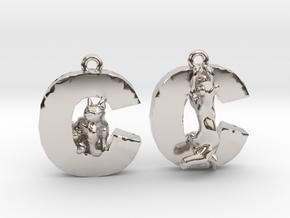 C Is For Cat in Platinum