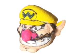 Custom Wario Lego in White Strong & Flexible