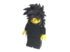 Custom Goku SSj4 (XV) Inspired Lego in White Strong & Flexible
