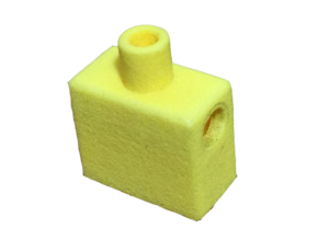 Custom Square Lego Torso in Yellow Strong & Flexible Polished
