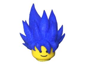 Custom Goku SSjG1 Inspired Lego in White Strong & Flexible