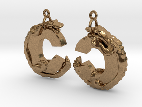 C Is For Crocodile in Natural Brass
