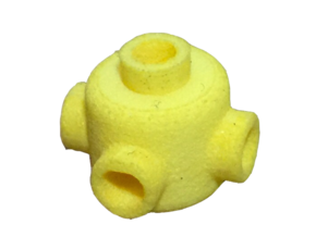Nub Head Lego in Yellow Strong & Flexible Polished