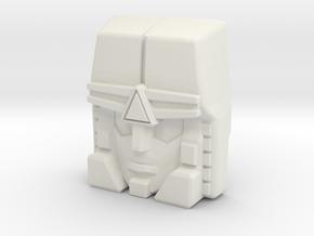 Cindersaur Face (Titans Return) in White Strong & Flexible