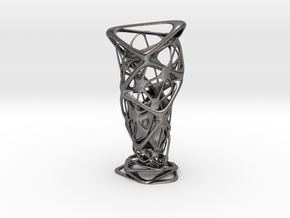 """""""Roots"""" Phyllotaxia Vase in Polished Nickel Steel"""