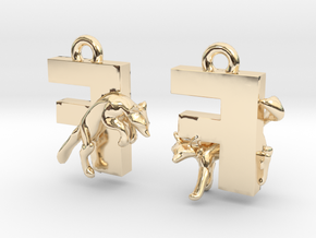 F Is For Fox in 14k Gold Plated Brass